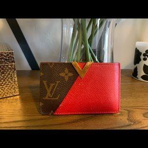 Louis Vuitton Authentic Cherry Kimono Card Wallet